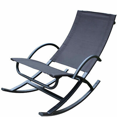 Zero Gravity Rocker Garden Chair Sun Lounger Outdoor Living Patio Decking Porch