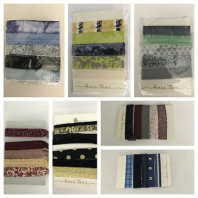 NWT Anthropologie Set of 5 Elastic Hair Ties Accessories Pony Tail Holder ()