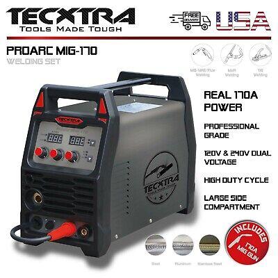 Welding Machine Mig 170 Set Tecxtra Inverter Arc Mag Tig Mma Dc Ac 120240v Usa