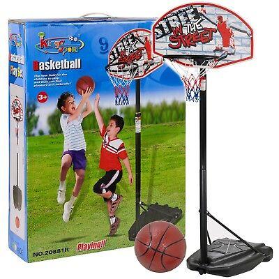 Large Adjustable 2.3M Free Standing Basketball Set Hoop Net Backboard Stand Kids