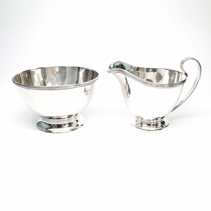 Vintage Tiffany & Co Sterling Silver Sugar Bowl and Creamer Set #6754