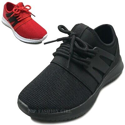 NEW Kids Mesh Sneakers Athletic Lace Up Boys Girls Tennis Shoe Size Youth