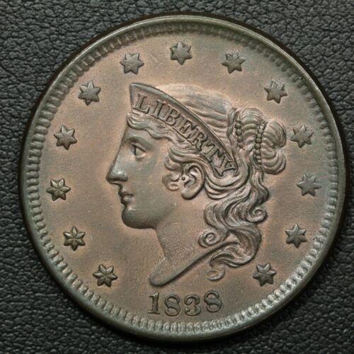 1838 Coronet Matron Head Copper Large Cent