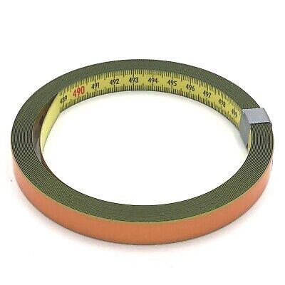 Skalenbandmaß Stahl links - rechts 13mm gelb Duplex selbstklebend 0,3m bis 100m (Maßband Ende)