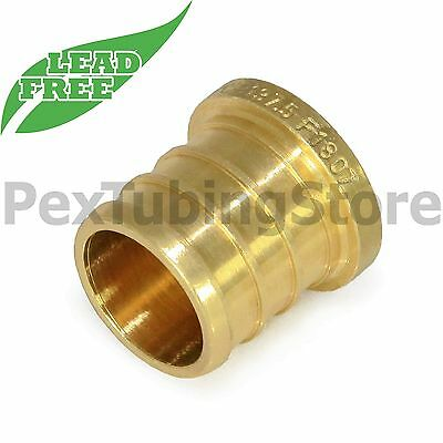 100 12 Pex Plugs - Brass Crimp Fittings Lead-free