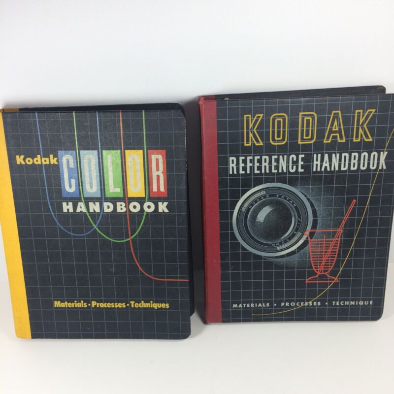 Vintage 1954 Kodak Reference Handbook and Kodak Color Handbook Photography