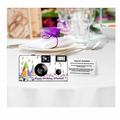 10 Happy Birthday Disposable Cameras-can be PERSONALIZED, 52126