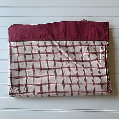 Woolrich Kids Twin Flat Sheet Lodge Christmas Red Brown Check Plaid Cotton