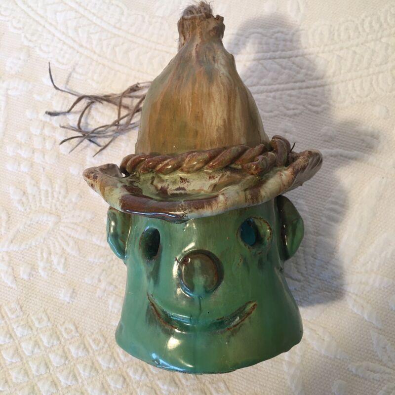 Vintage Halloween Ceramic Scarecrow Figure