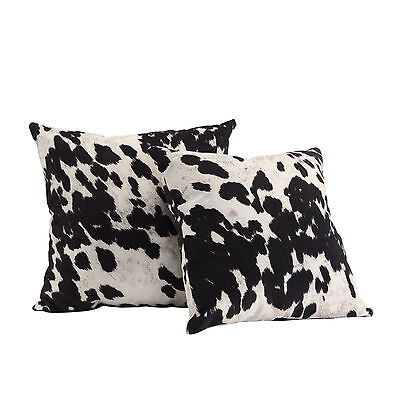 iNSPIRE Q Faux Cow Hide Print Home Stylish Decorative Throw Pillows (Set of 2)