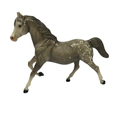 Vintage Breyer Toy Horse Gray White Spotted 8.5 Inches Tall by 10 Inches long