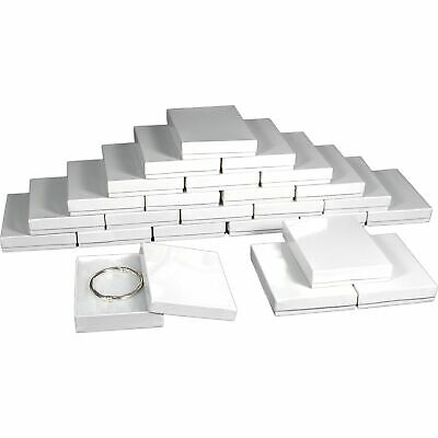 25 White Cotton Jewelry Gift Boxes 5 38
