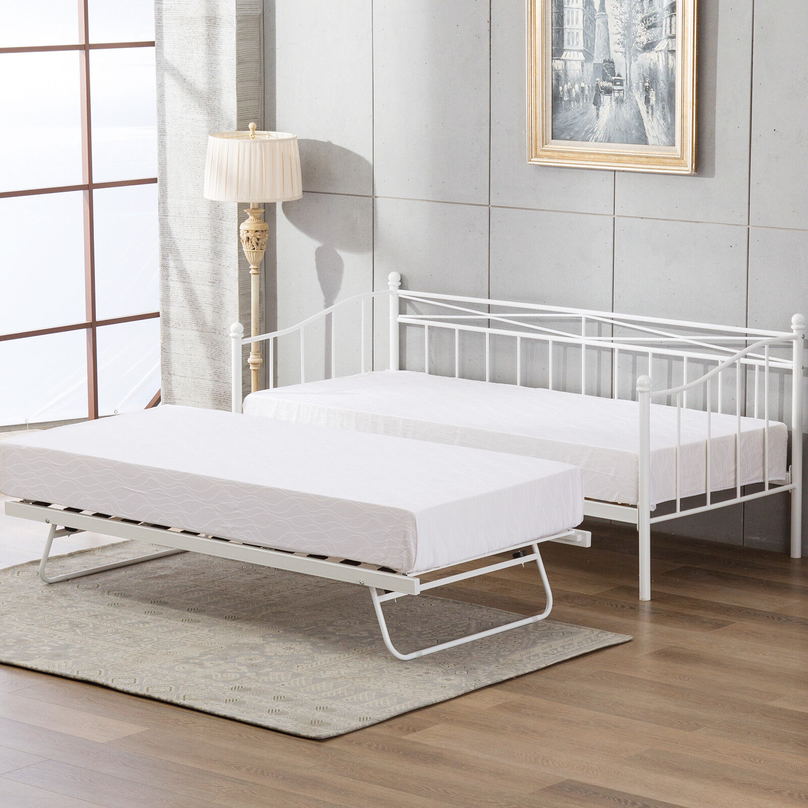 Modern 3FT Single Day Bed Frame with or without Trundle Metal ...