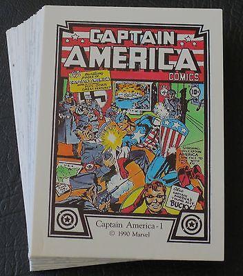 1990 MARVEL CAPTAIN AMERICA COMIC TRADING CARD SET <> WOLVERINE PUZZLE BACK