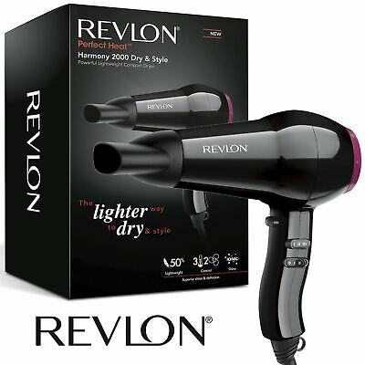 New Womens Revlon Harmony Professional Dry & Style Compact Power Hairdryer 2000W