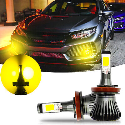 Golden Yellow LED Flashing Strobe Fog Light Bulb Glare For Honda Civic (Best Yellow Fog Light Bulbs)