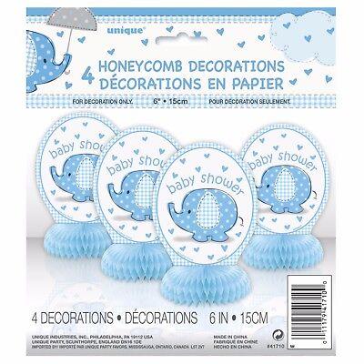 Baby Shower Dec (BLUE UMBRELLAPHANTS -HONEYCOMB DEC - Baby Shower Boy Party Decorations)