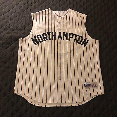 a7def9bd38a Majestic Northampton College NCC Baseball Softball Pinstripe Jersey Mens XL