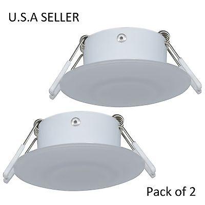Facon 2pcs RV LED 3inch 12V Camper Trailer Recessed Interior Ceiling Light 210lm