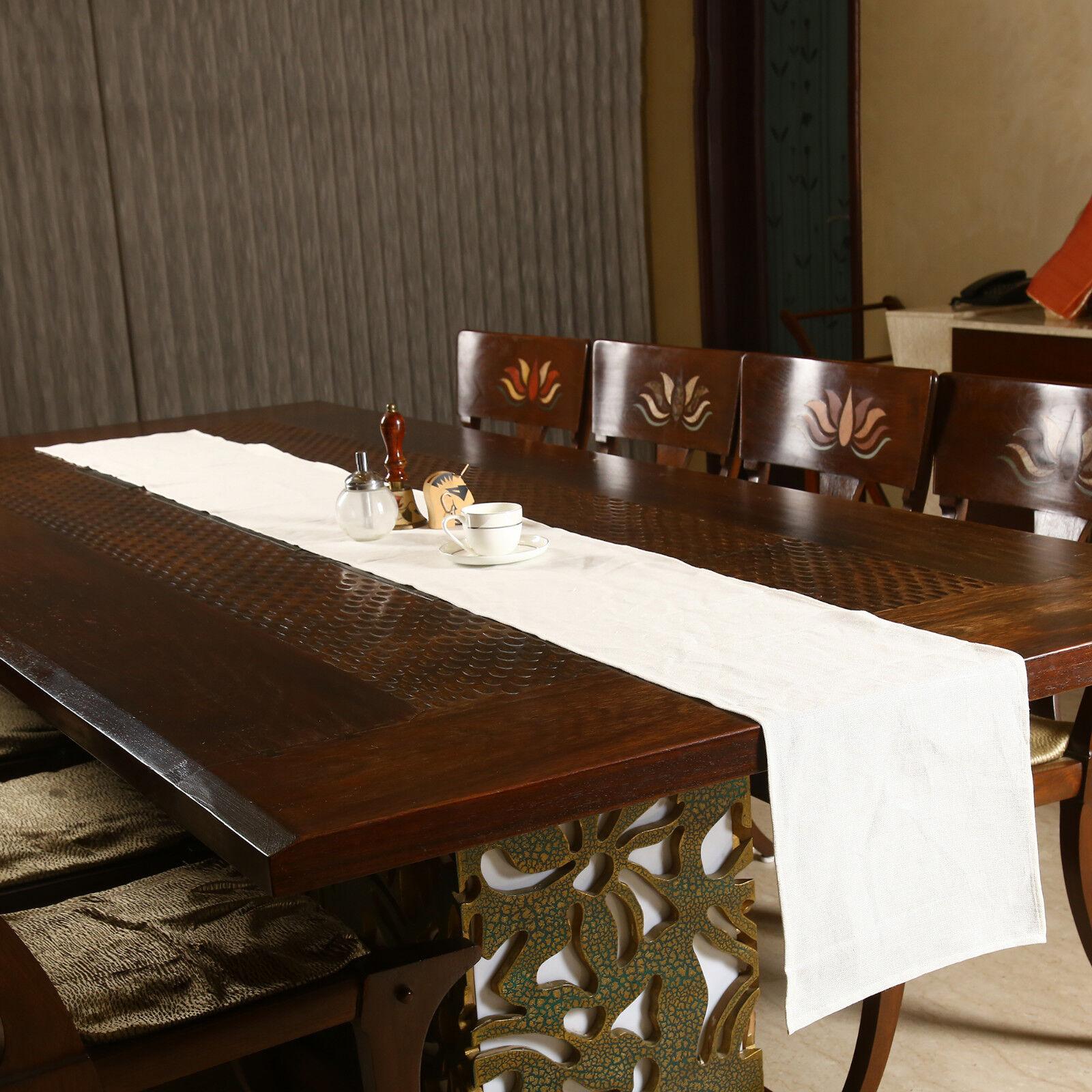 Handmade Linen Table Runner For Wedding Party Kitchen Dining