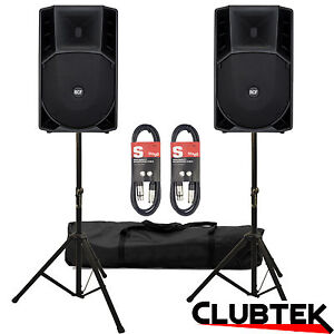 RCF ART 715A MK ll Active Two-Way Speakers 2800W PAIR + FREE Stands Bag Leads UK
