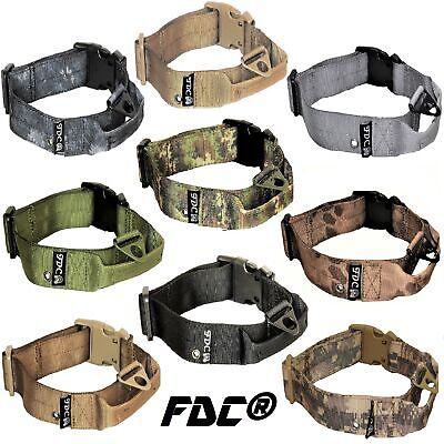 Plastic Dog Collar (Heavy Duty Dog K9 Tactical Collar Military Handle Medium Large Plastic)