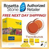 Rosetta Stone® LEARN ENGLISH AMERICAN FULL 1 2 3 4 5 CD SET + DOWNLOAD + MORE!