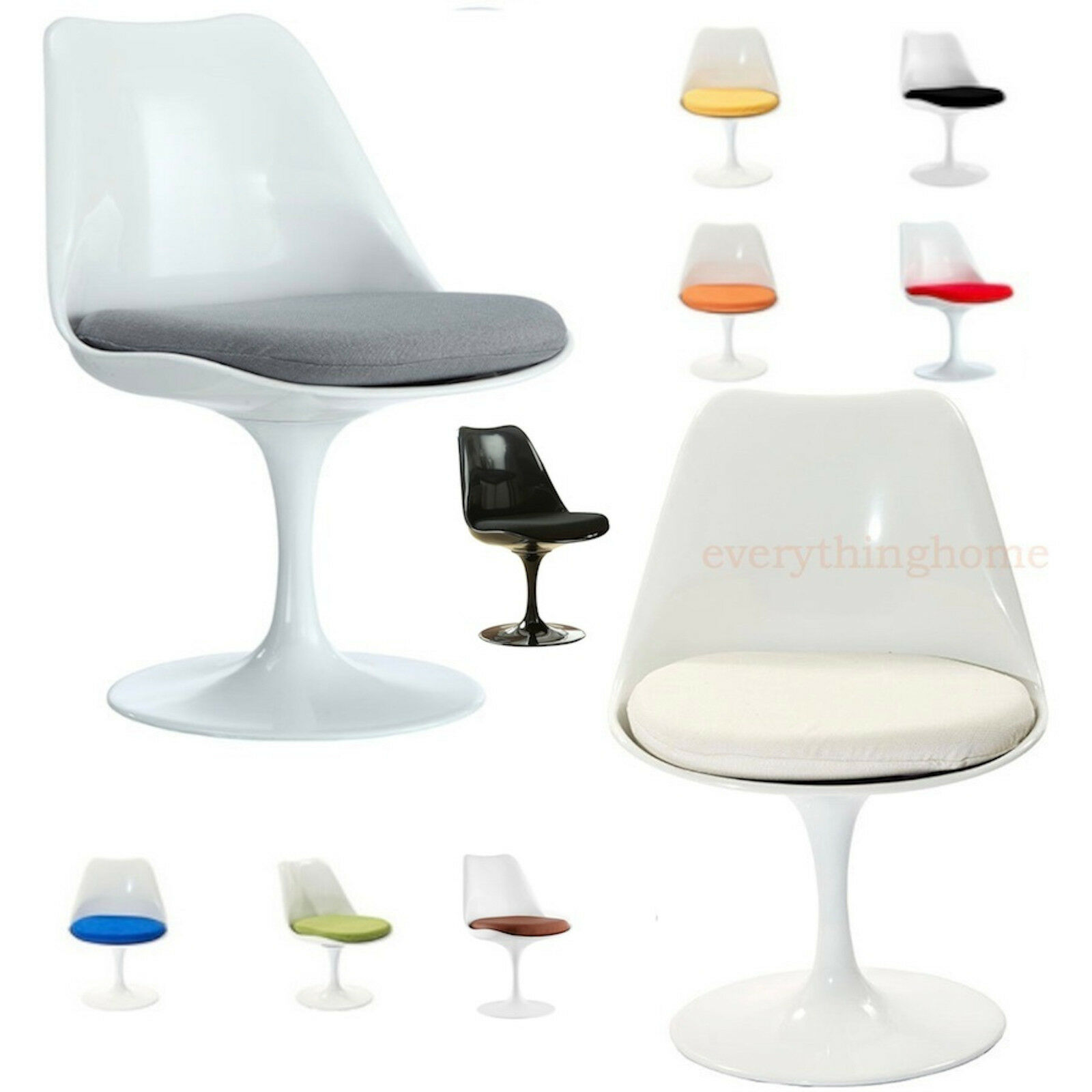 white tulip dining side chair eero saarinen 9 cushion colors fabric or vinyl