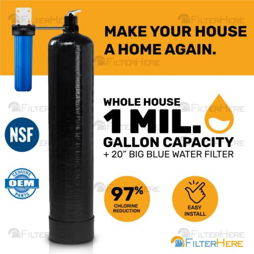 Whole House Home Water Filtration System (1 Mil. Gal. Capacity)