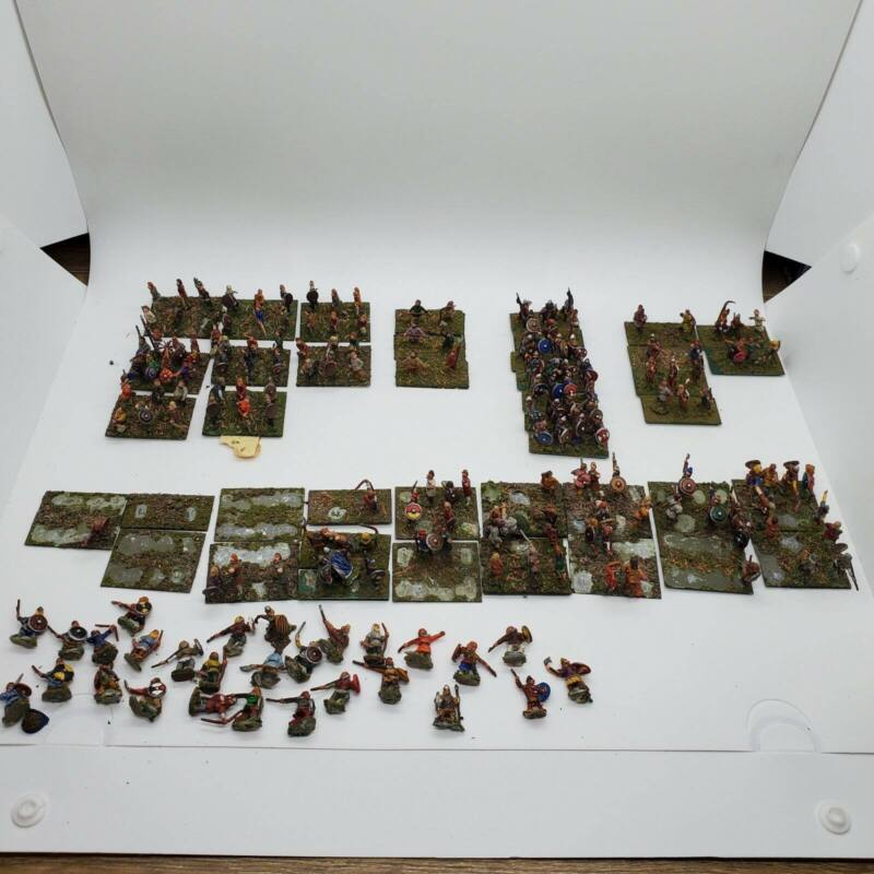 178 15MM Ancient Medievel Archers Soldiers Townfolk Painted Lot Huge!