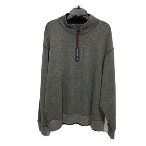 $110 CREMIEUX Mens Reversible Pullover Sweater 3XT Charcoal Black Elbow Patches Clothing, Shoes & Accessories