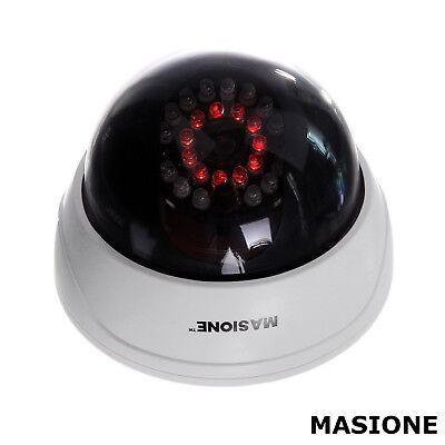 Dome Fake Dummy Surveillance Security Camera with LED Sensor Light