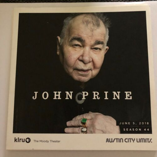 John Prine Austin City Limits Season 44 Taping program - Perfect shape. ACL PBS
