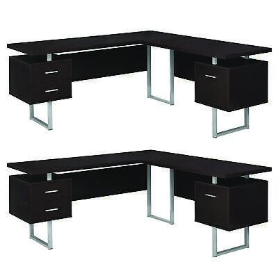 Monarch Specialties 70 In. Contemporary Computer Desk Cappuc