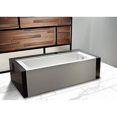Dyconn Faucet Avalon Acrylic Bathtub, Right Hand Drain