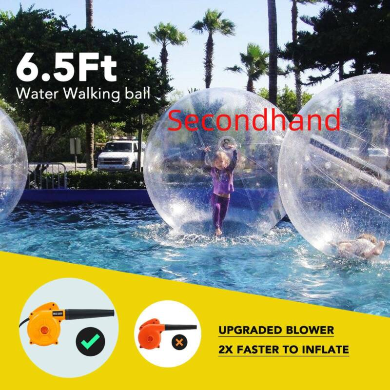 Secondhand 2m Inflatable Walk on Water Walking Zorb Ball PVC
