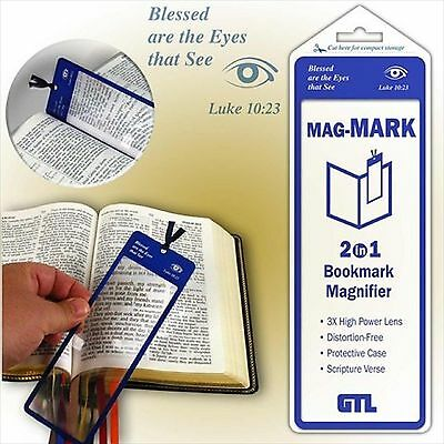 Mag-Mark 2 in 1 Bookmark Magnifier with Scripture Verse + Protective Case