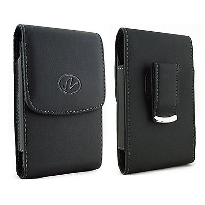 Belt Clip Carrier - Leather Vertical Belt Clip Case Pouch Cover for Samsung Cell Phones ALL CARRIERS
