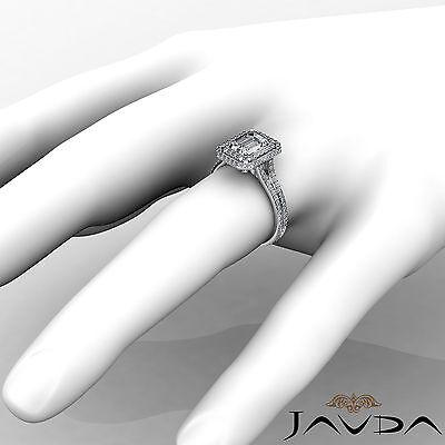 Double Halo Pave Split Shank Emerald Diamond Engagement Ring GIA H VS2 2.6 Ct 3