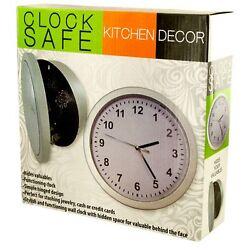 DECOR WALL CLOCK HIDDEN SAFE New