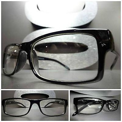 Men's or Women CONTEMPORARY MODERN Clear Lens EYE GLASSES Cool Black Frame (Cool Frames For Men)