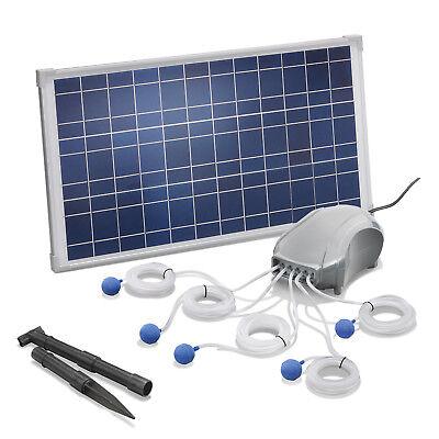 Solar Teichbelüfter 25W 600l/h Pumpe Teichbelüftung Sauerstoff esotec 101076