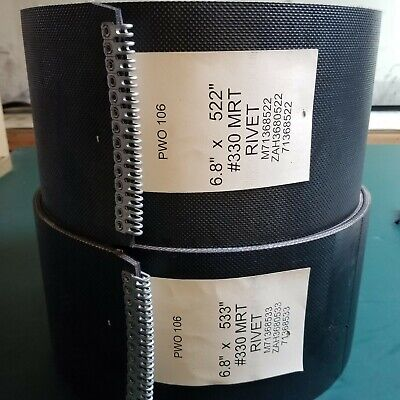 605m 6 Belt Vermeer Round Baler Belt Set 3 Ply Hd Mini Roughtop Alligator Lace