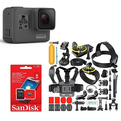 Go Pro HERO 5 Hero5 Black 4K Camera CHDHX-501 With 40PCS Extreme Sports Package!