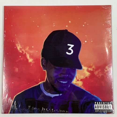 """Chance The Rapper Coloring Book 2LP Vinyl Limited Red 12"""" Record"""