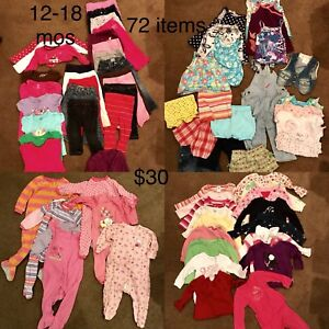 12-18 mos girl clothes (72 items)