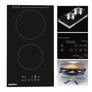 Kuppet Ceramic Built In 2 Burner Electric Cooktop Black