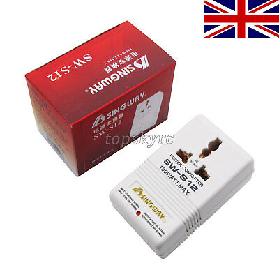 # 110V 120V to 220V 240V Step Up / Down Voltage Converter 100W Transformer UK