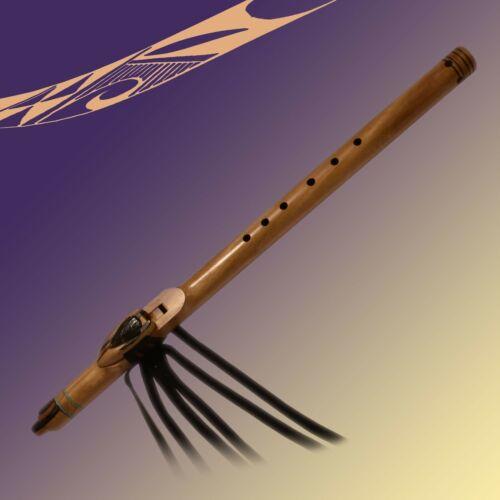Handmade Dan Selchow Multi-Wood Turquoise Native American Style Flute