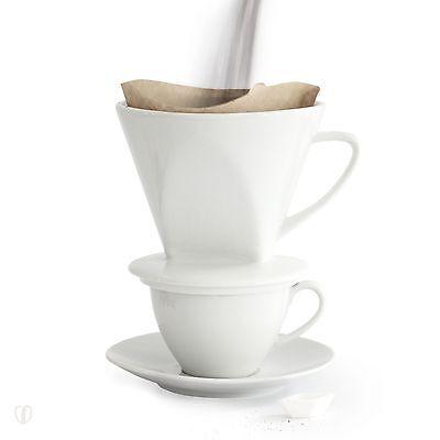 Kaffeefilter Halter Keramik Weiß No°4 / Kaffeebereiter, Handfilter, Dauerfilter
